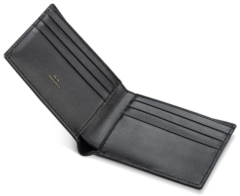 Black Croco Billfold Wallet