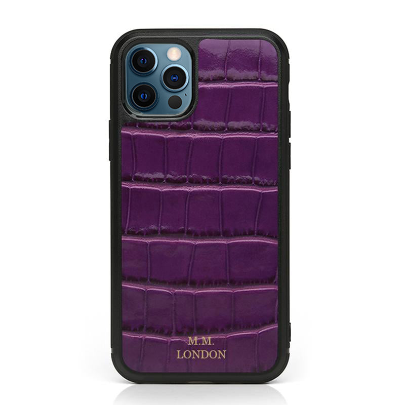 Amethyst Croco Case (All iPhones)