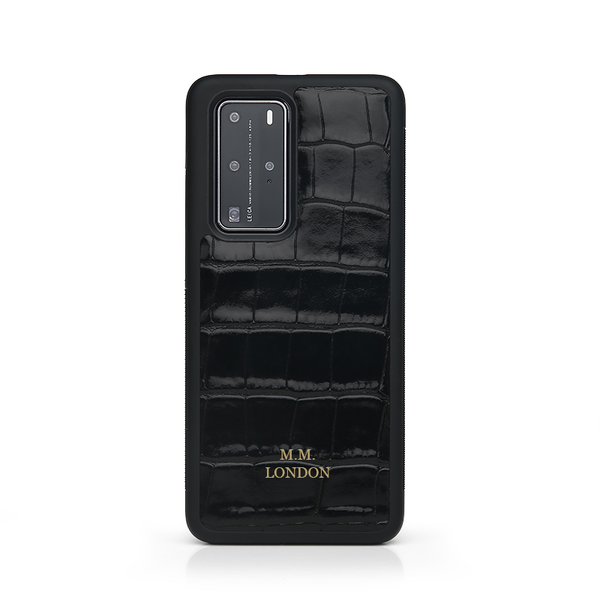 Black Croco Huawei case