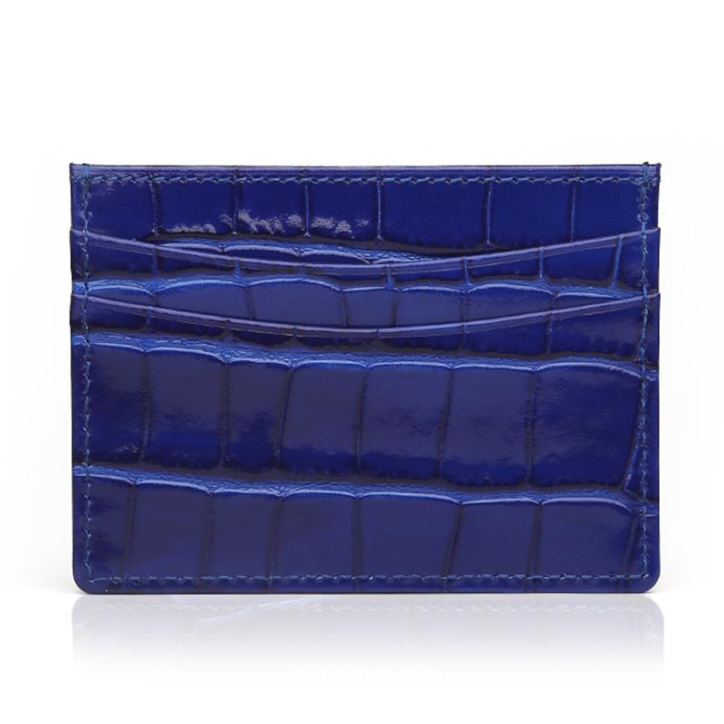 Blue Croco Card Holder