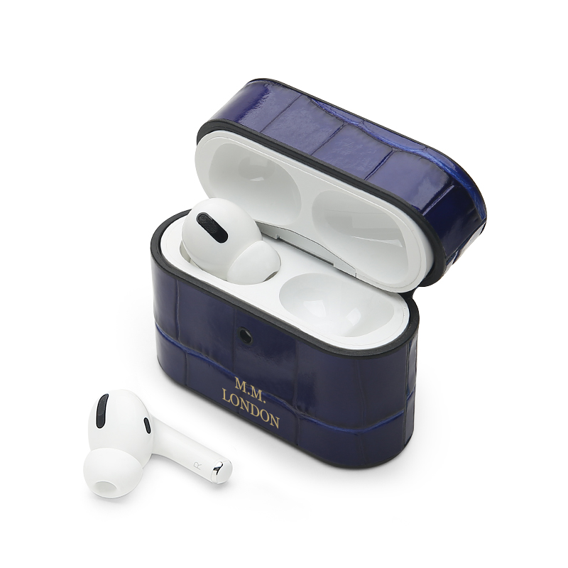 Blue Croco AirPods Pro Case