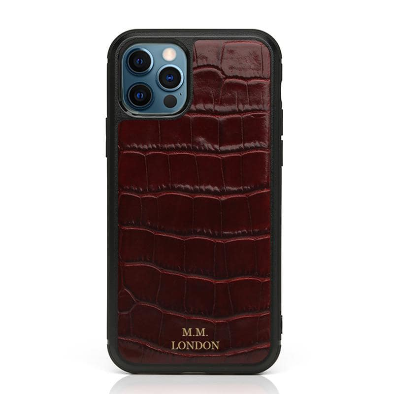 Burgundy Croco Case (All iPhones)