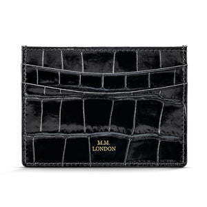Black Croco Card Holder
