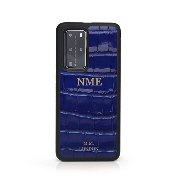 Blue Croco Huawei Case