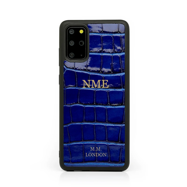 Blue Croco Samsung Case (S21 available)