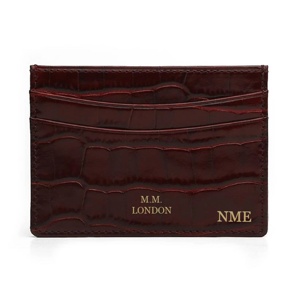 Burgundy Croco Card Holder