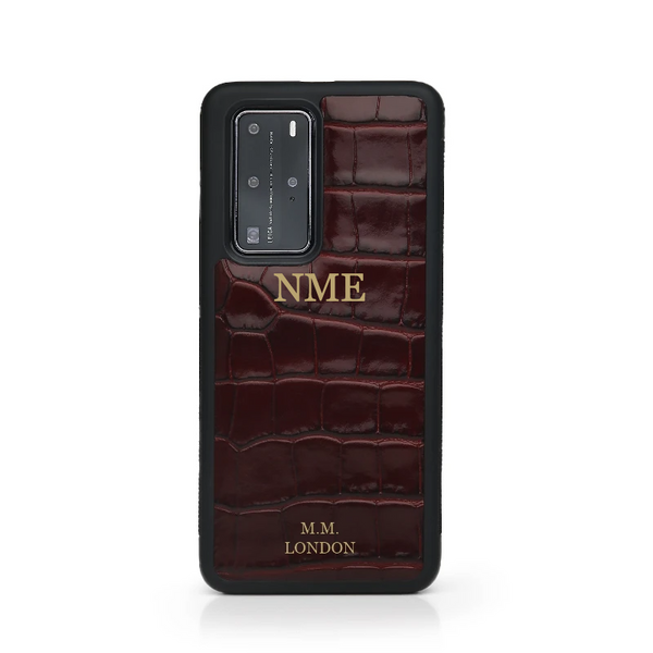 Burgundy Croco Huawei Case
