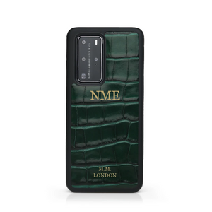 Green Croco Huawei Case