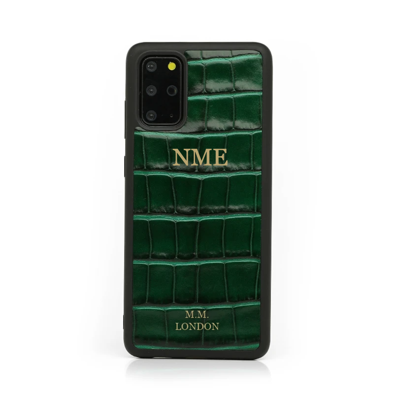 Green Croco Samsung Case (S20 available)