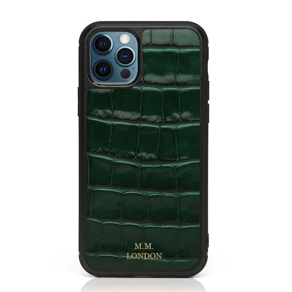 Green Croco Case (All iPhones)