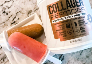 Strawberry Collagen Popsicles