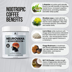 TWO Neurovana Nootropic Coffee - [$34.99 each - Save 12%]