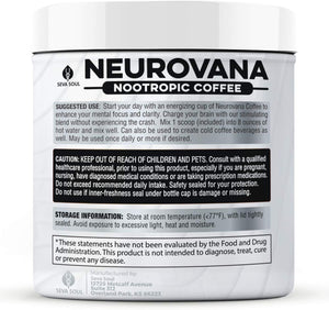 THREE Neurovana Nootropic Coffee -[$30.66 each - Save 20%]