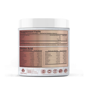 Seva Soul Collagen - Bovine, Hydrolyzed, Grass-Fed, Pasture Raised, Non-GMO; 16OZ CONTAINER, 41 SERVINGS, 11G PROTEIN PER SCOOP