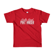 Load image into Gallery viewer, Hustle Hard Pray Harder short sleeve kids t-shirt