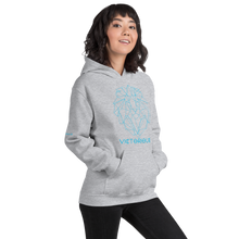 Load image into Gallery viewer, Lion of Judah Blue Unisex Hoodie