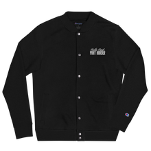 Load image into Gallery viewer, Hustle Hard Pray Harder Embroidered Champion Bomber Jacket