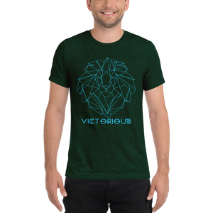 Lion of Judah Electric Blue unisex short sleeve t-shirt
