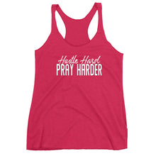 Load image into Gallery viewer, Hustle Hard Pray Harder Women's Racerback Tank