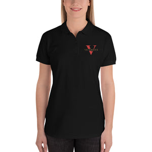 VictoriousEmbroidered Women's Polo Shirt