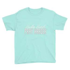 Hustle Hard Pray Harder Youth Short Sleeve T-Shirt