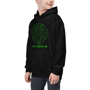 Lion of Judah Green Kids Hoodie