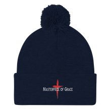 Load image into Gallery viewer, Masterpiece of Grace Pom Pom Knit Cap