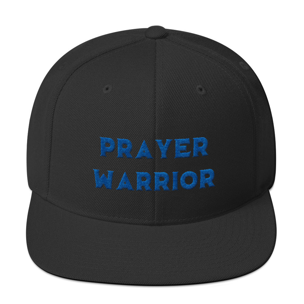 Blue Prayer Warrior Snapback Hat