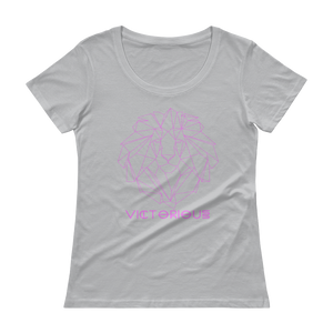 Lion of Judah Ladies Pink Scoopneck T-Shirt