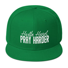 Load image into Gallery viewer, Hustle Hard Pray Harder Snapback Hat