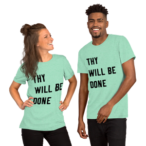"Victorious ""Thy Will Be Done"" Short-Sleeve Unisex T-Shirt"