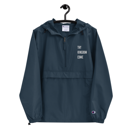 Thy Will Be Done Embroidered Unisex Champion Packable Jacket