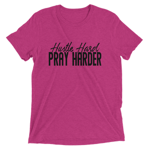Hustle Hard Pray Harder Black Unisex short sleeve t-shirt