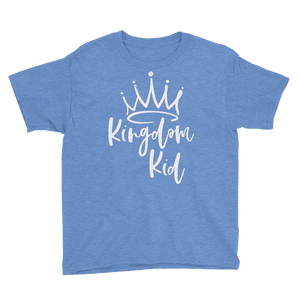 Kingdom Kid Youth Short Sleeve T-Shirt (White letters)