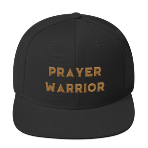 Golden Prayer Warrior Snapback Hat