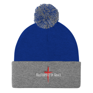 Masterpiece of Grace Pom Pom Knit Cap