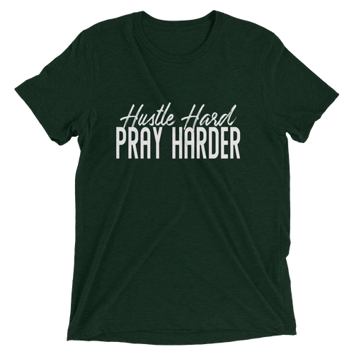 Hustle Hard Pray Harder Unisex short sleeve t-shirt