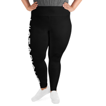Load image into Gallery viewer, Victorious Glyphs Black All-Over Print Plus Size Leggings