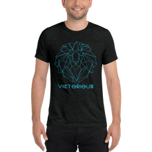 Load image into Gallery viewer, Lion of Judah Electric Blue unisex short sleeve t-shirt