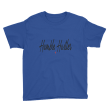 Load image into Gallery viewer, Humble Hustler Black Youth Short Sleeve T-Shirt