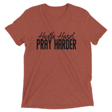 Load image into Gallery viewer, Hustle Hard Pray Harder Black Unisex short sleeve t-shirt