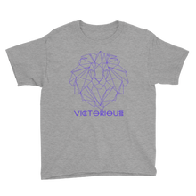 Load image into Gallery viewer, Lion of Judah Purple Youth Short Sleeve T-Shirt