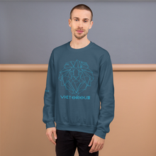 Load image into Gallery viewer, Lion of Judah Blue Unisex Sweatshirt