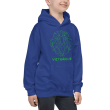 Load image into Gallery viewer, Lion of Judah Green Kids Hoodie