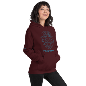 Lion of Judah Blue Unisex Hoodie