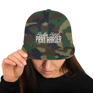 Hustle Hard Pray Harder Snapback Hat