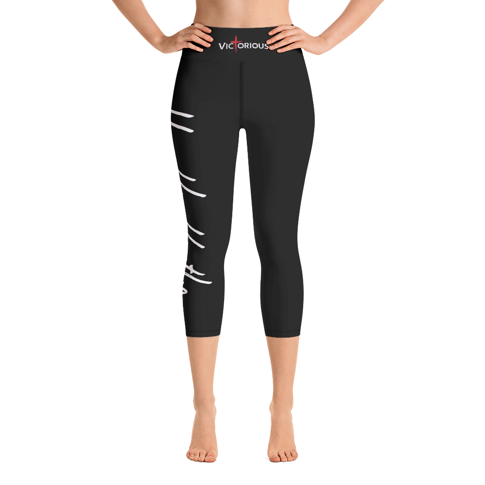 Humble Hustler Black Yoga Capri Leggings