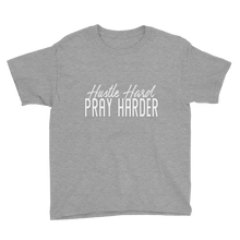 Load image into Gallery viewer, Hustle Hard Pray Harder Youth Short Sleeve T-Shirt