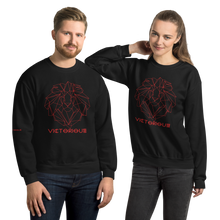 Load image into Gallery viewer, Lion of Judah Red Unisex Sweatshirt