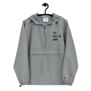 Thy Will Be Done Unisex Embroidered Champion Packable Jacket